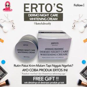 ERTOS Dermo Night Whitening Cream (Krim Malam) Original