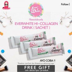 [Sachet] Everwhite Hi-Collagen Drink Pemutih Dari Dalam Dan AntiAging