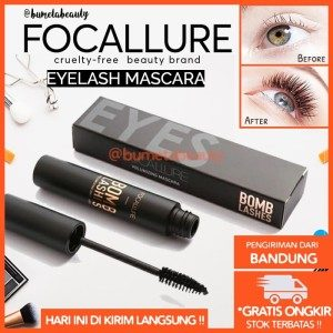 Focallure Maskara Hitam 3D Tahan Air Bomb Lashes