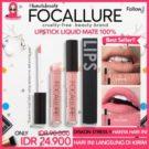 Lipstik Matte Cair Tahan Lama Focallure Waterproof Liquid Lipstick