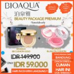 Paket Bioaqua Beauty Premium (BB Cushion + Blush On) Original Murah