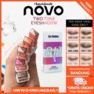 Novo Two Tone Eyeshadow Glitter Color Waterproof Kosmetik Mata