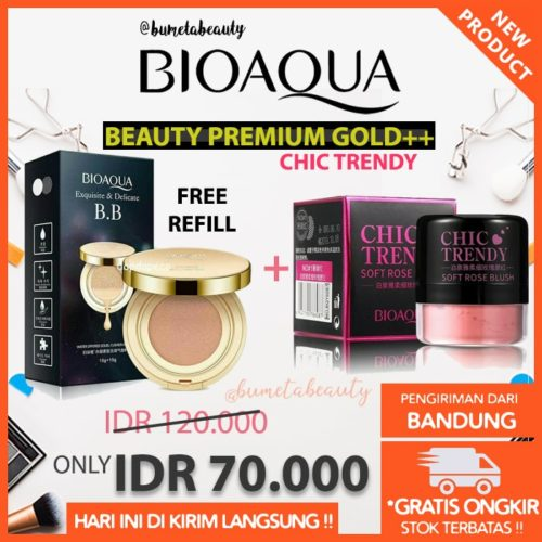 Paket Bioaqua Beauty Chic Gold++ Refill