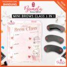 Alat Gambar Cetakan Alis Korea Mini Class Brows 3 Bentuk Alis Mata